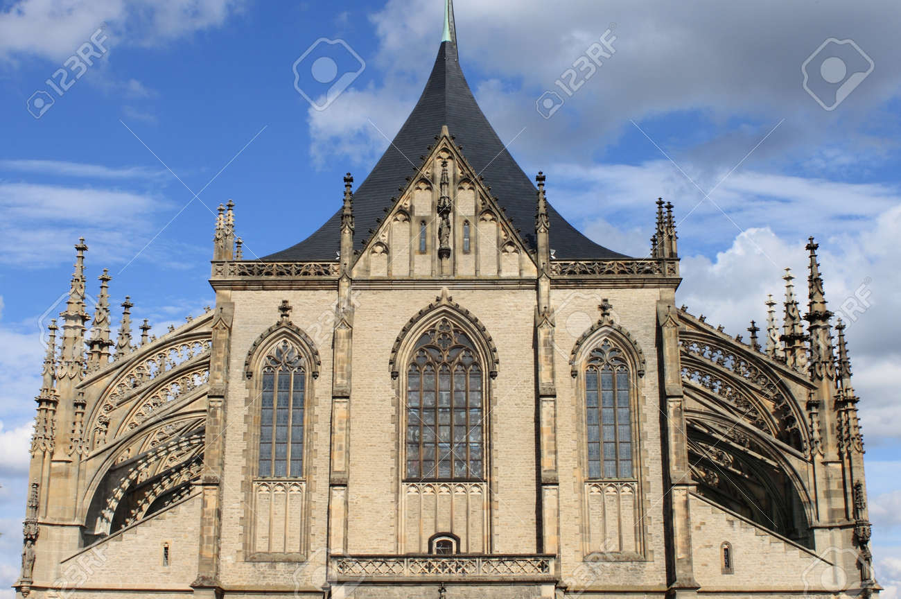St. Barbara cathedral facade in Kutna Hora, Czech Republic Stock Photo - 17554283