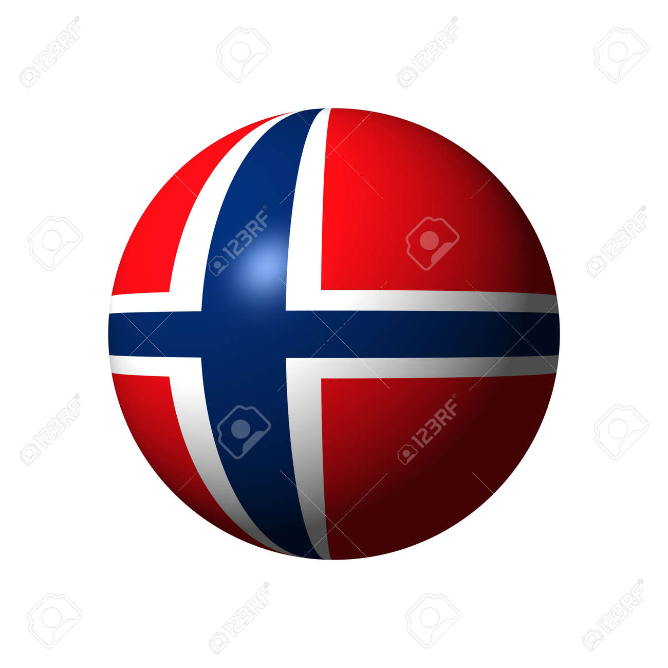 Sphere with flag of Norway nation Stock Photo - 21583993