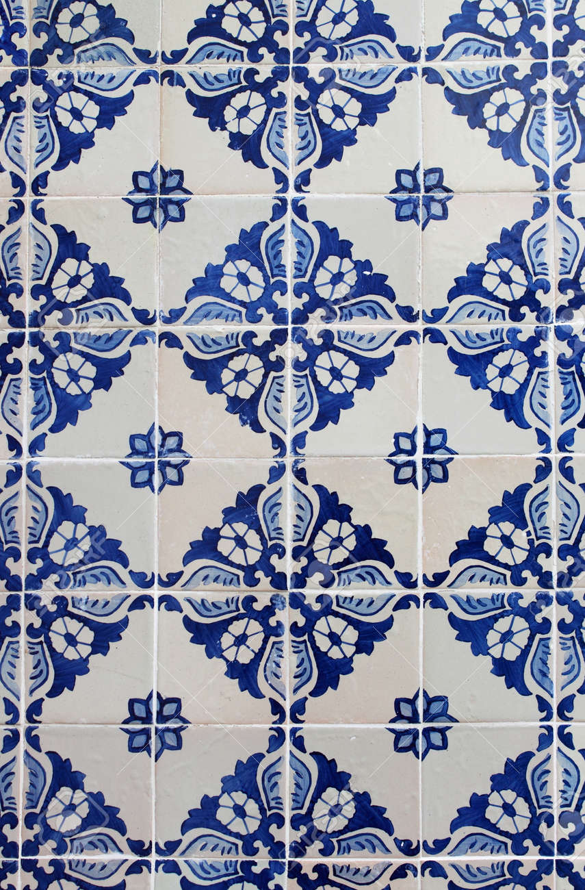 Old Traditional Portuguese Azulejos The Painted Ceramic Tilework Stock Photo Picture And Royalty Free Image Image 73319585