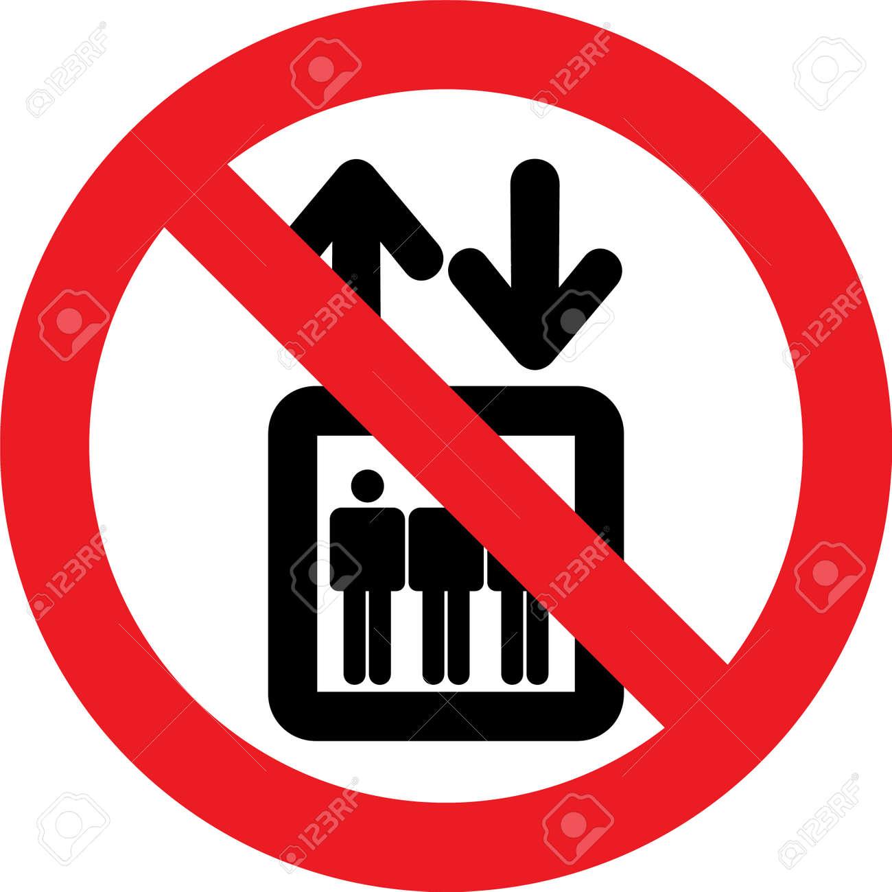 No elevator allowed sign - 72366068