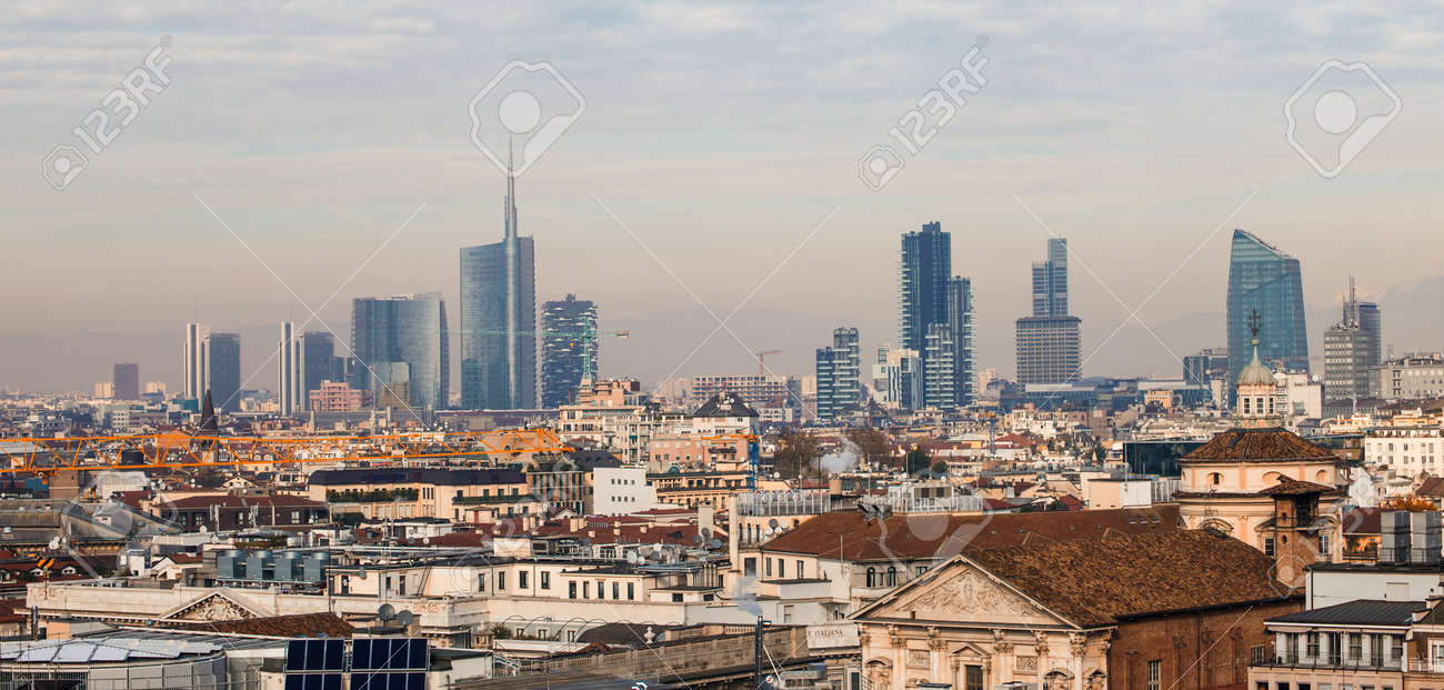Milano Panorama Stock Photo, Picture And Royalty Free Image. Image 33943779.