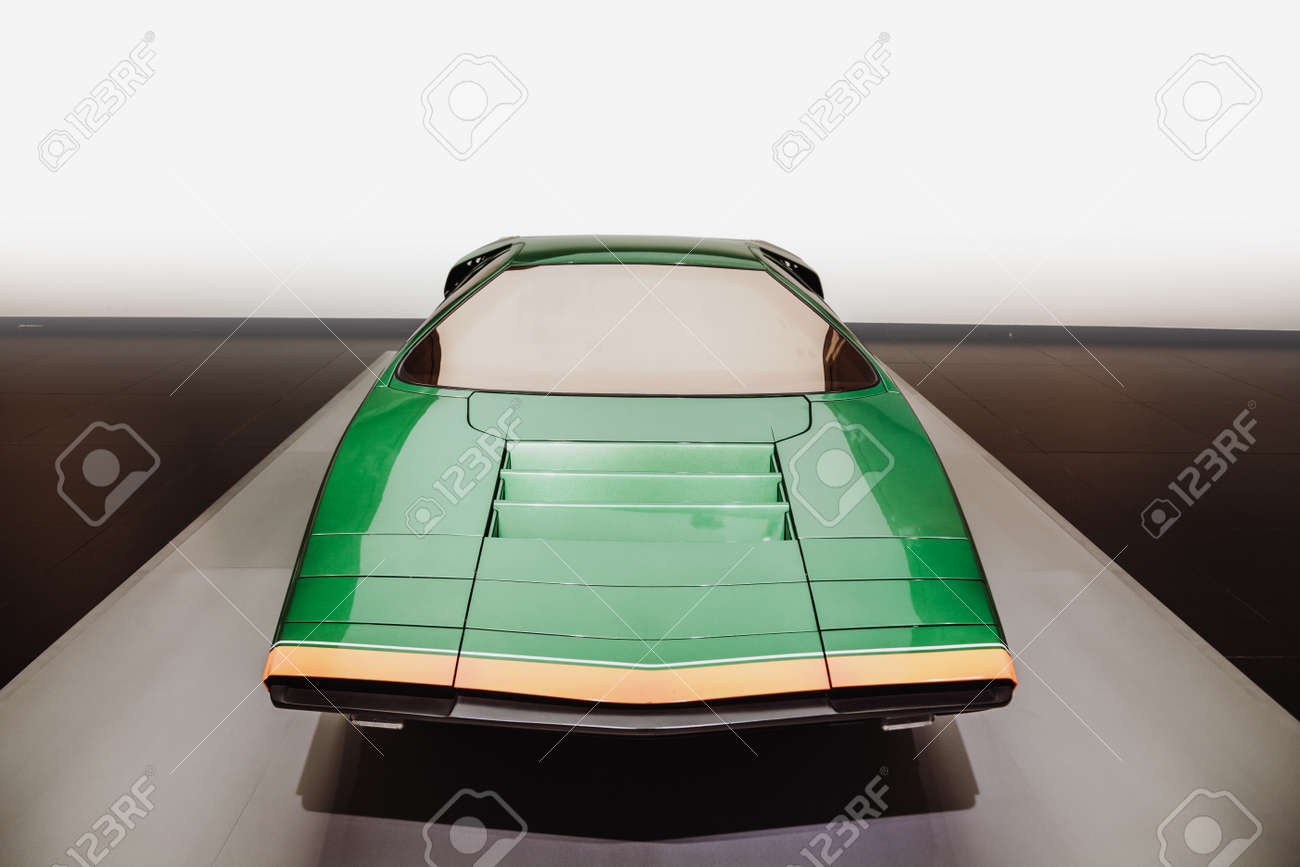 Frontal View Of Isolated Super Sport Futuristic Vintage Car Stock Photo Picture And Royalty Free Image Image 94489140