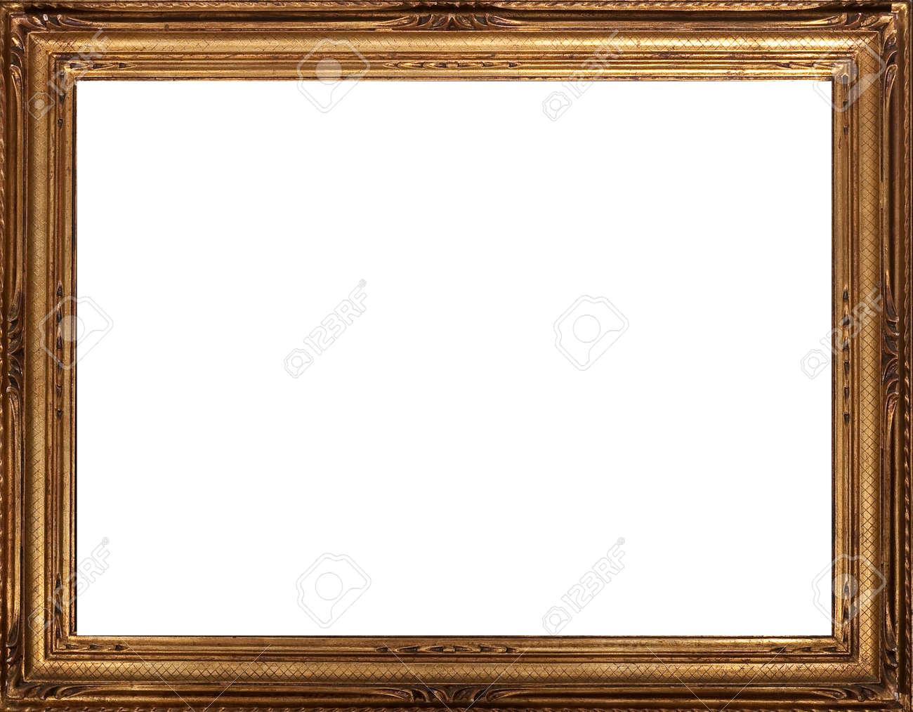 Old Style Wooden Golden Painting Frame Stock Photo, Picture And ...