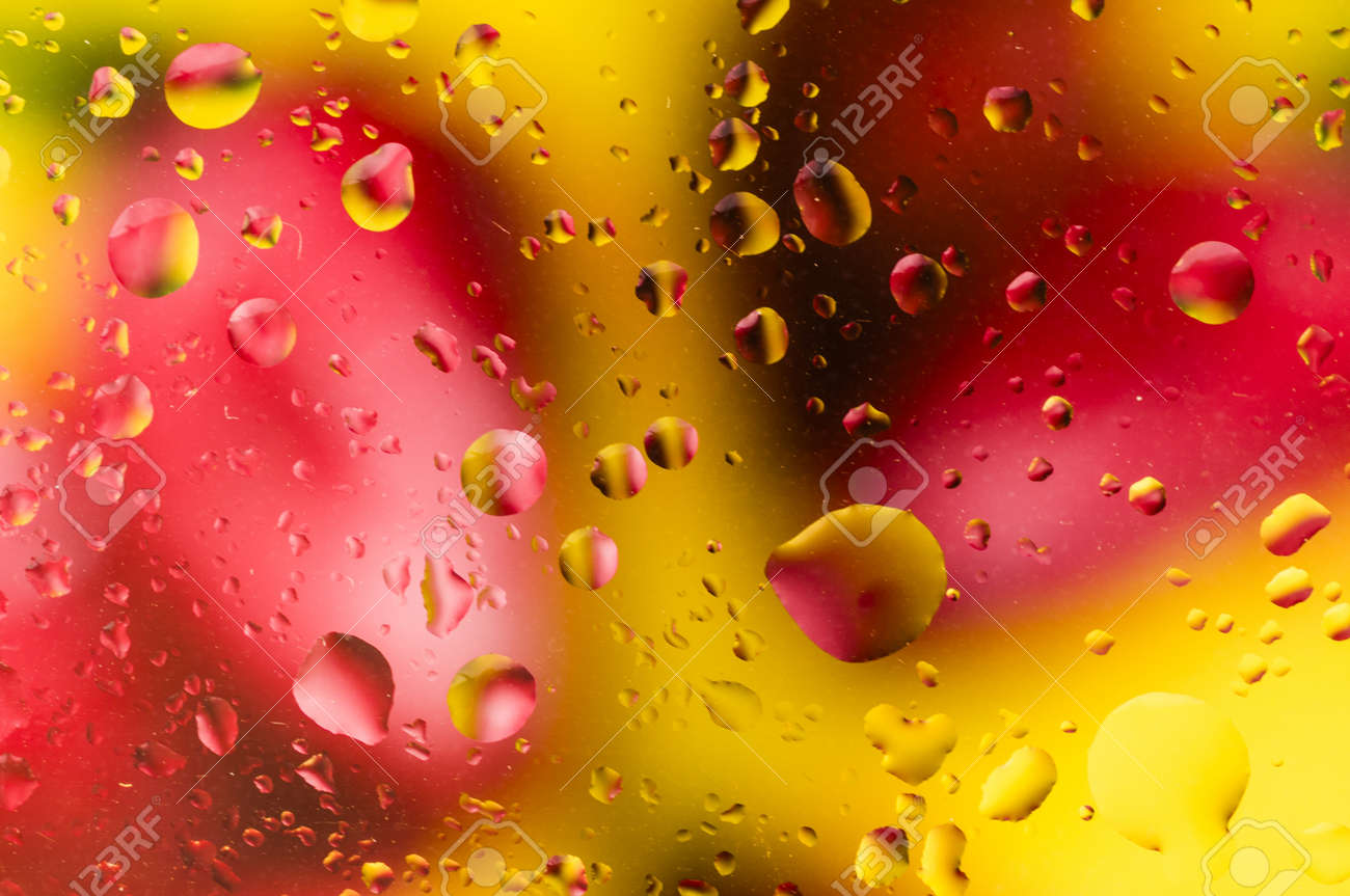 Water drops in colorful background Stock Photo - 18901126