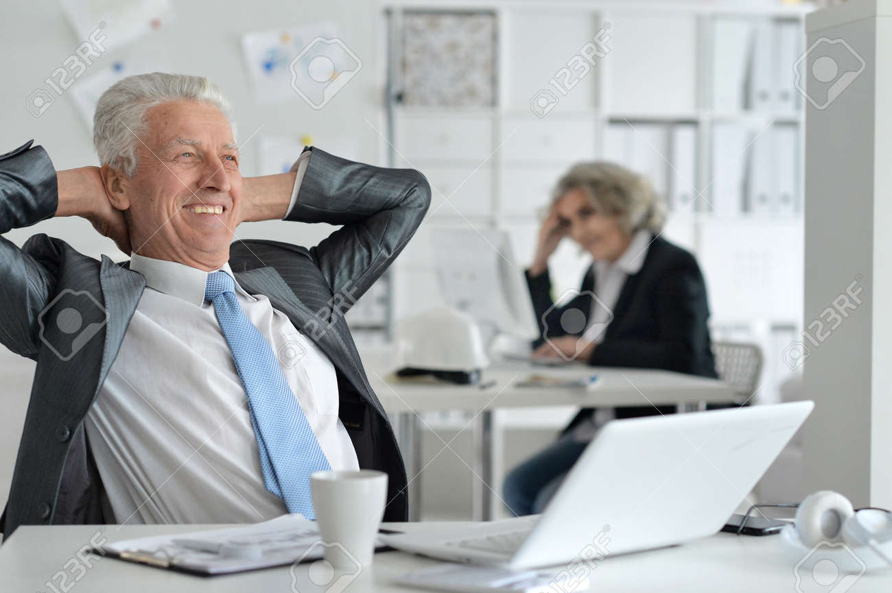 mature couple working at office Stock Photo - 71165470