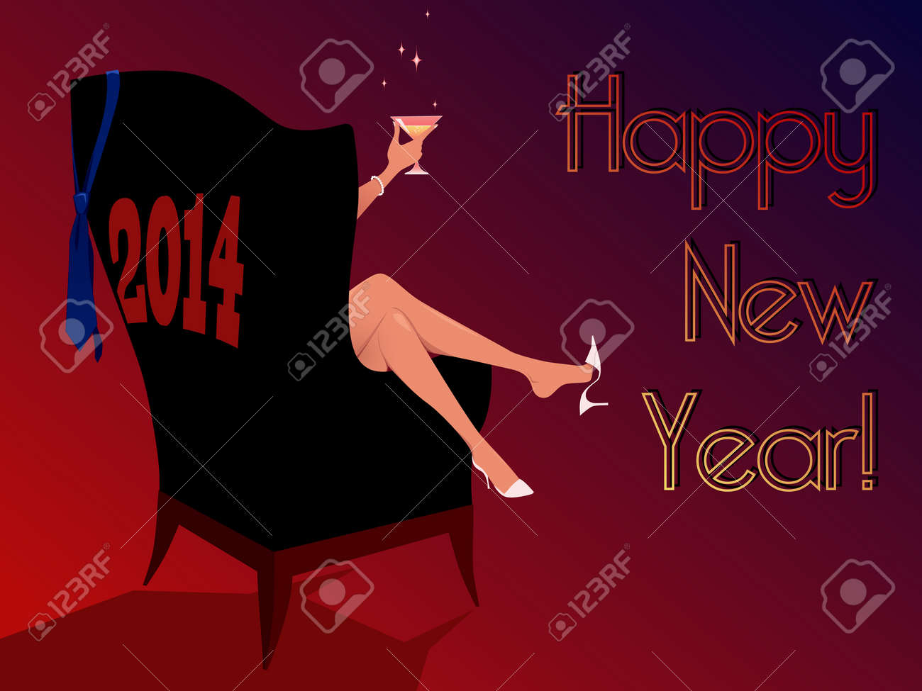 Happy new year 2014 greeting card royalty free cliparts vectors happy new year 2014 greeting card stock vector 23111511 m4hsunfo