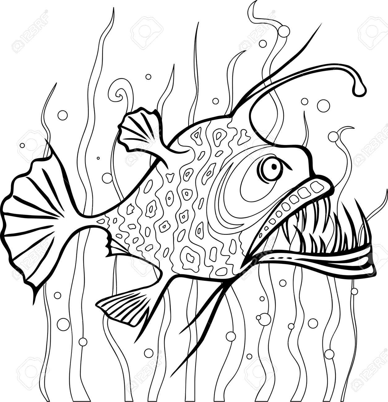 Anglerfisch Malvorlage Coloring And Malvorlagan