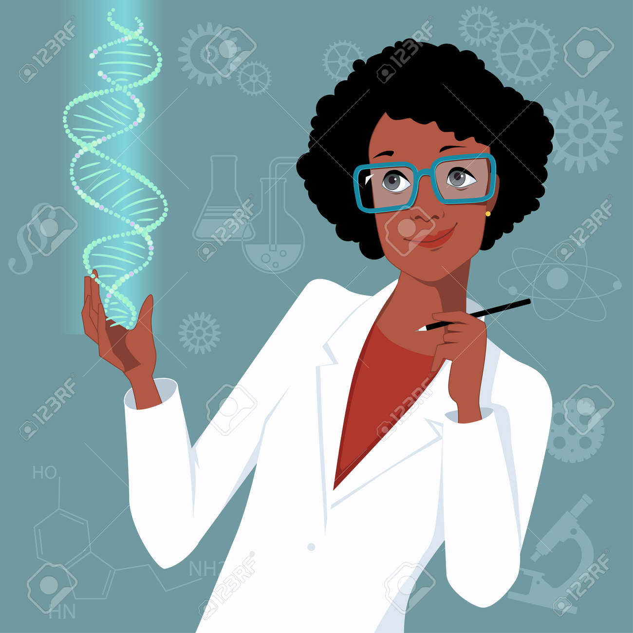 A woman that working her magic in science