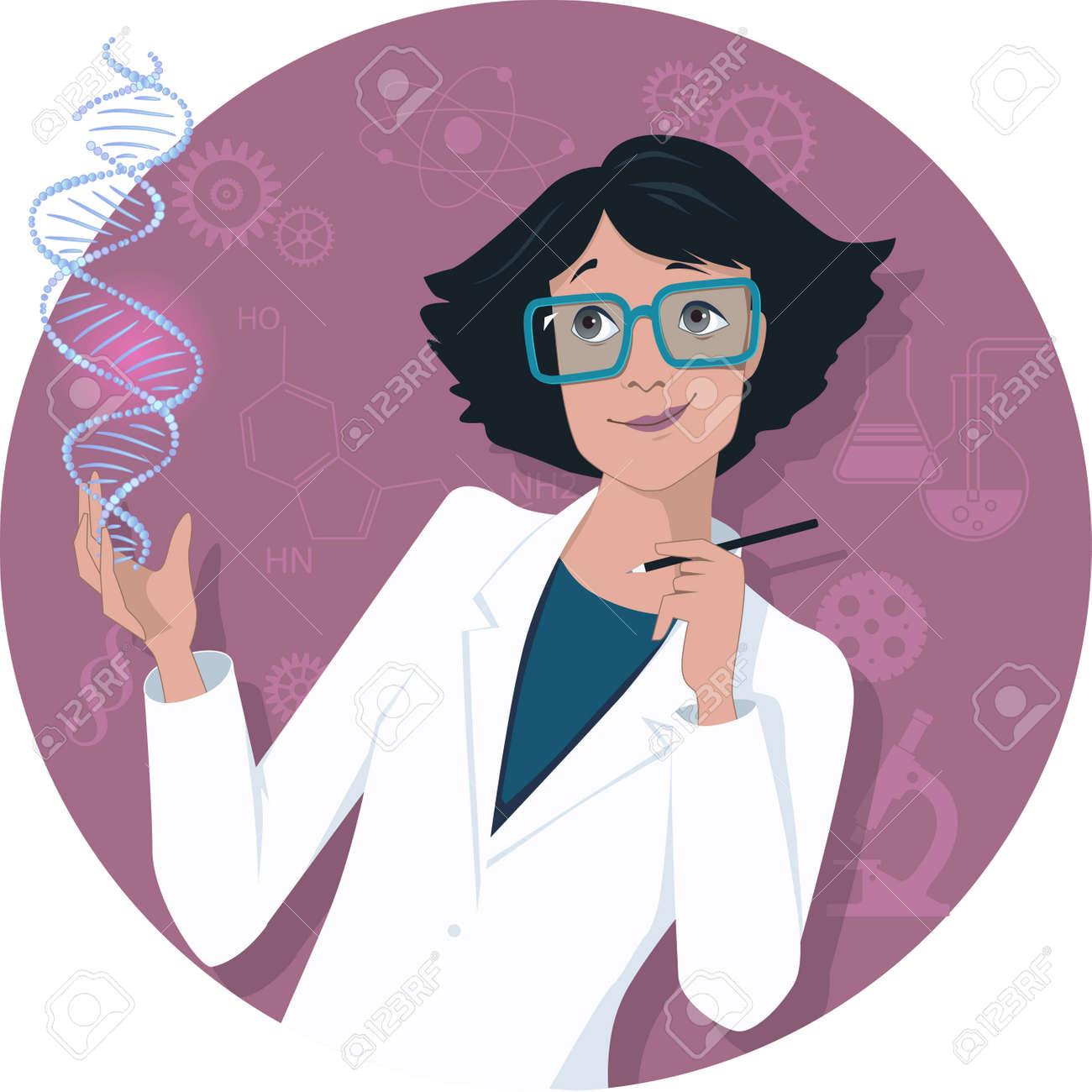 Female scientist - 34553443
