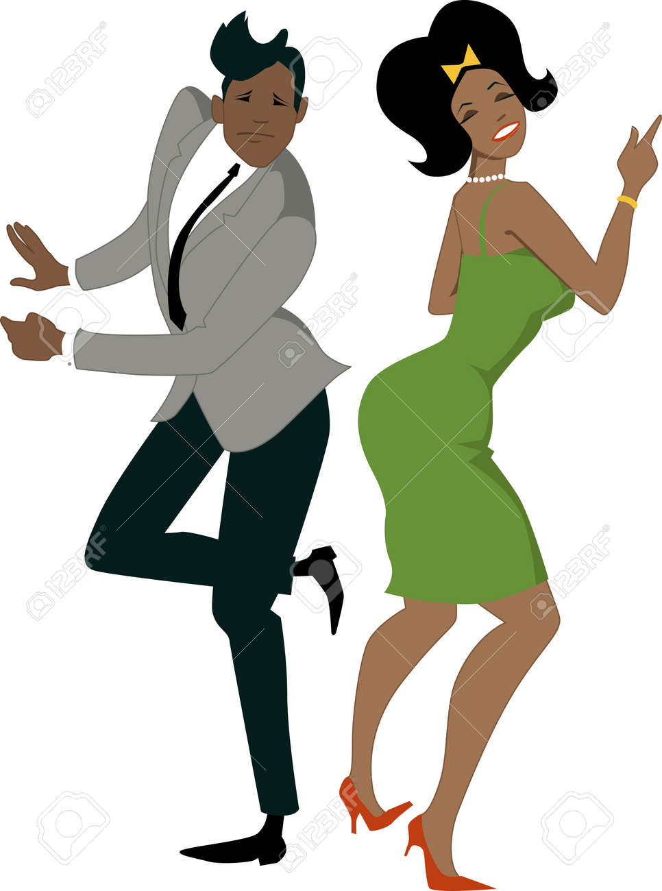 young stylish black couple dressed in late 1950s early 1960s rh 123rf com