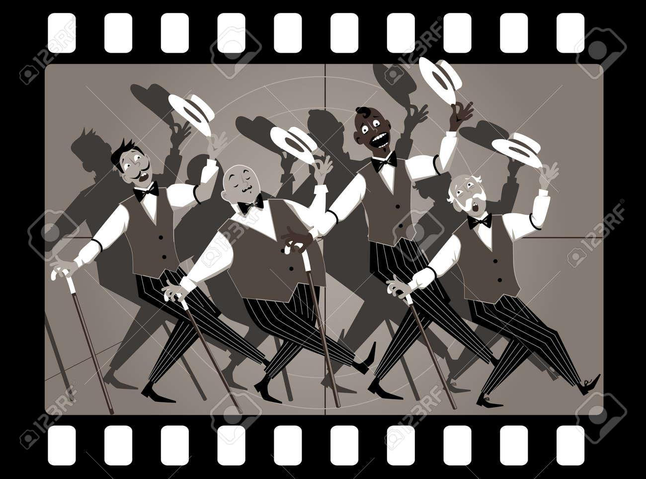 Cuarteto De Cantantes En El Canto De La Barbería Género Y Bailando ...