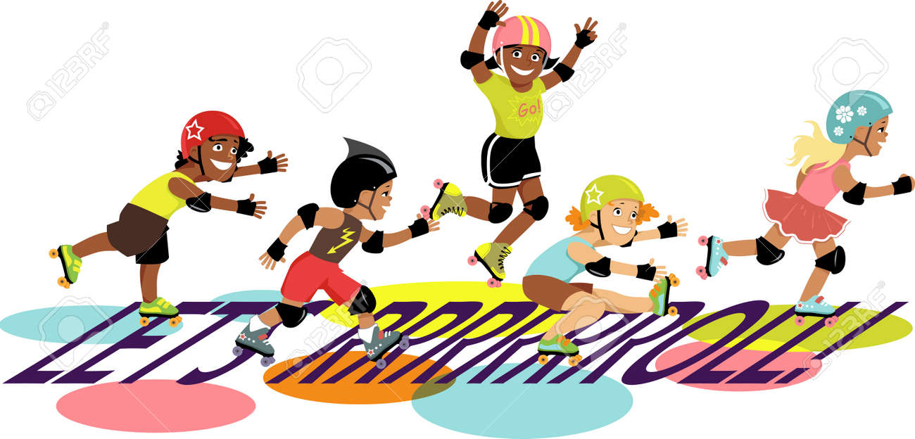 Illustration Of Kids Skating On Ice Royalty Free Cliparts, Vectors, And  Stock Illustration. Image 1780205.
