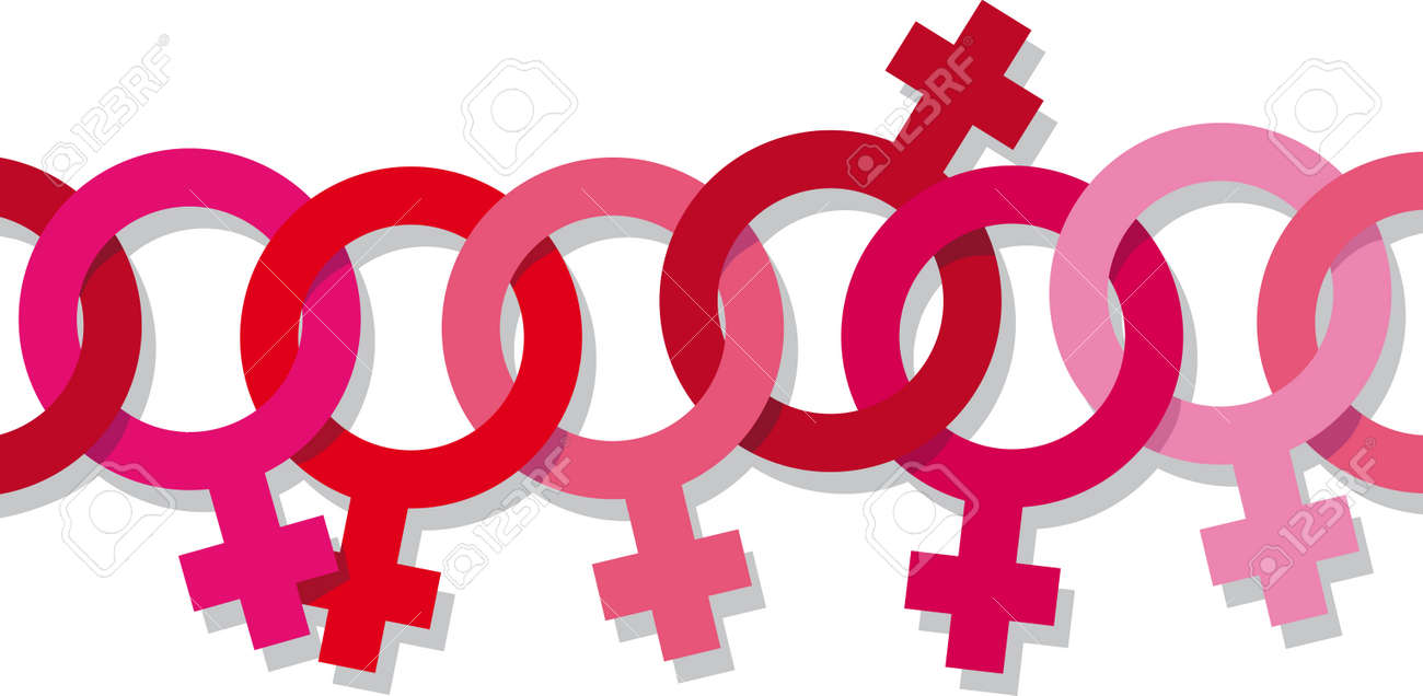 Chain of venus female symbols linked together as a metaphor for chain of venus female symbols linked together as a metaphor for women liberation movement and feminism buycottarizona
