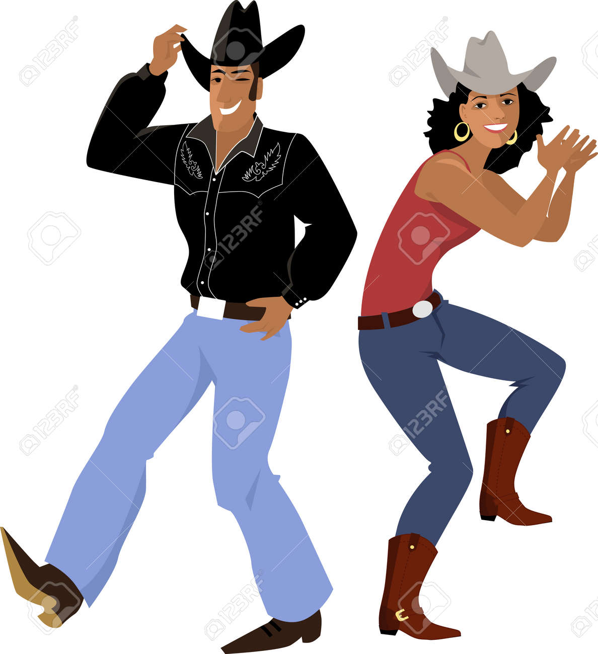 Image Danse Country couple vêtu d'une tradition de danse traditionnelle country western