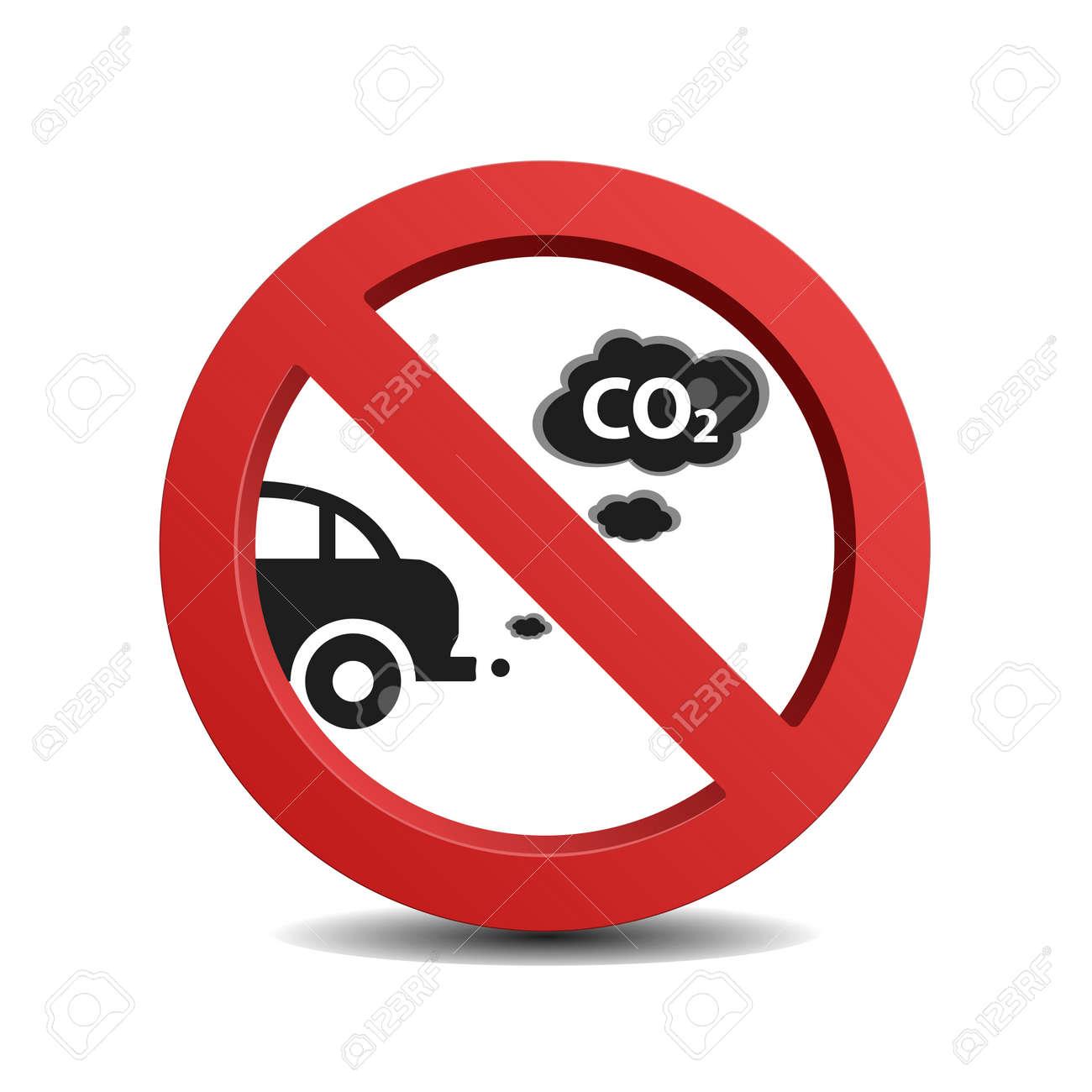 Stop De Motor Teken Geisoleerd Op Een Witte Achtergrond Royalty
