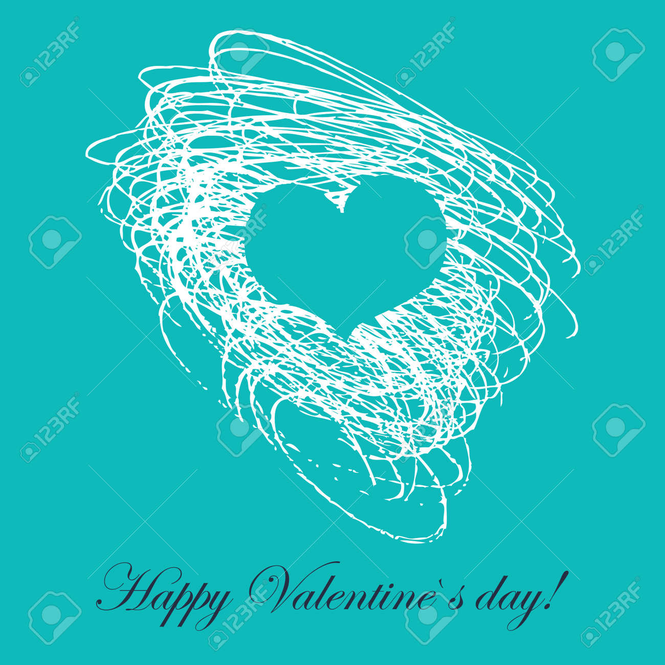 Lovely card with hand drawn heart Stock Vector - 18175809