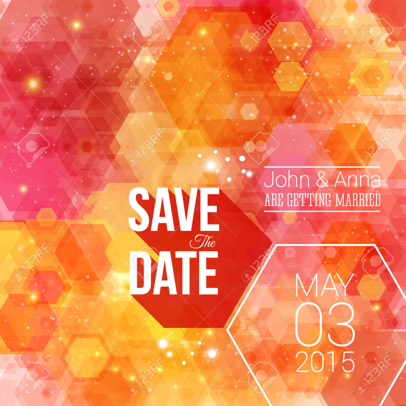 Save The Date For Personal Holiday. Wedding Invitation. Royalty Free ...