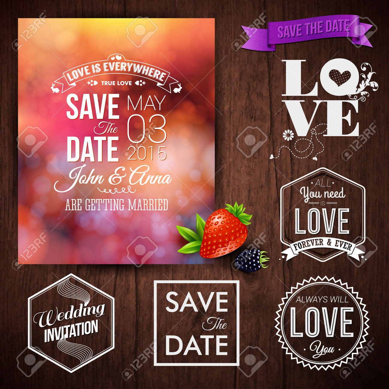 Save The Date For Personal Holiday Cards. Wedding Invitation ...
