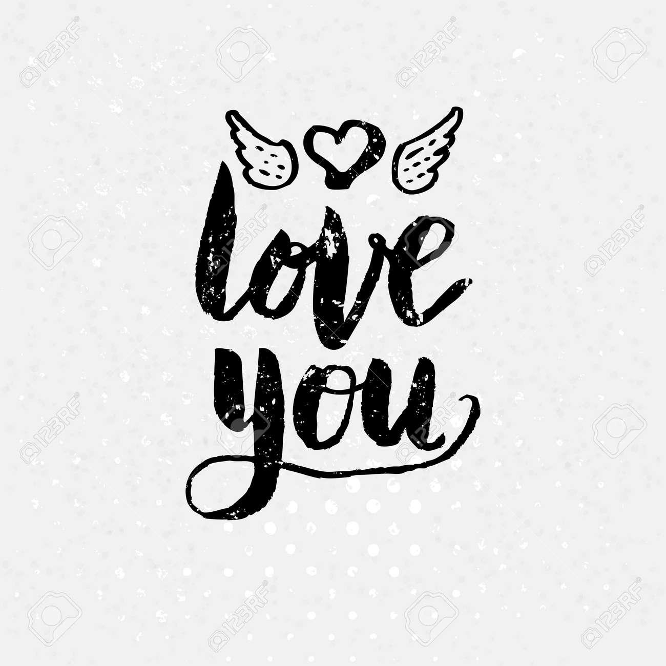 banque dimages love concept noir et blanc simple love you texte sur fond blanc soulignant coeur avec des ailes