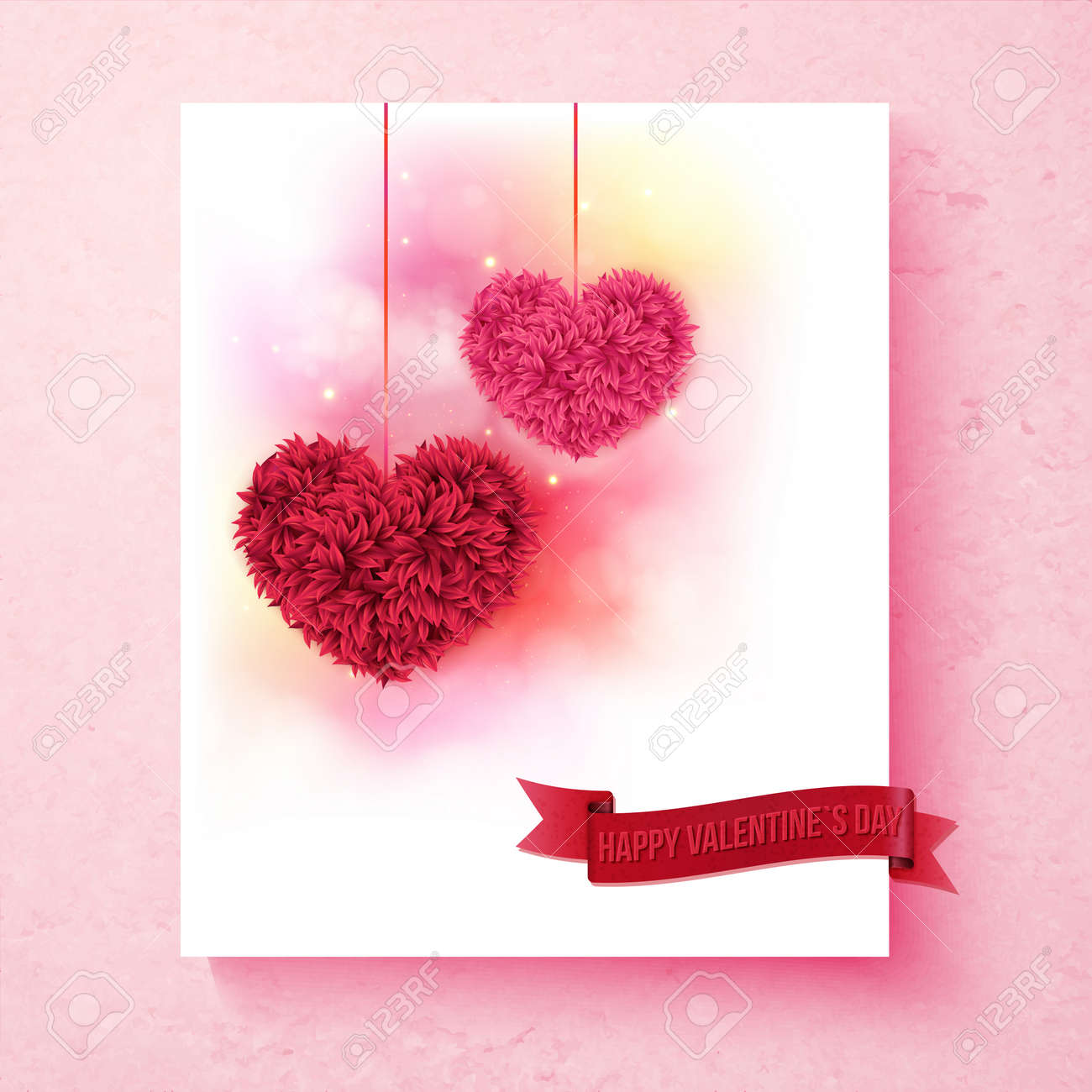 Sentimental Valentine Card Design With Colorful Pink And Red – How to Design Valentine Card