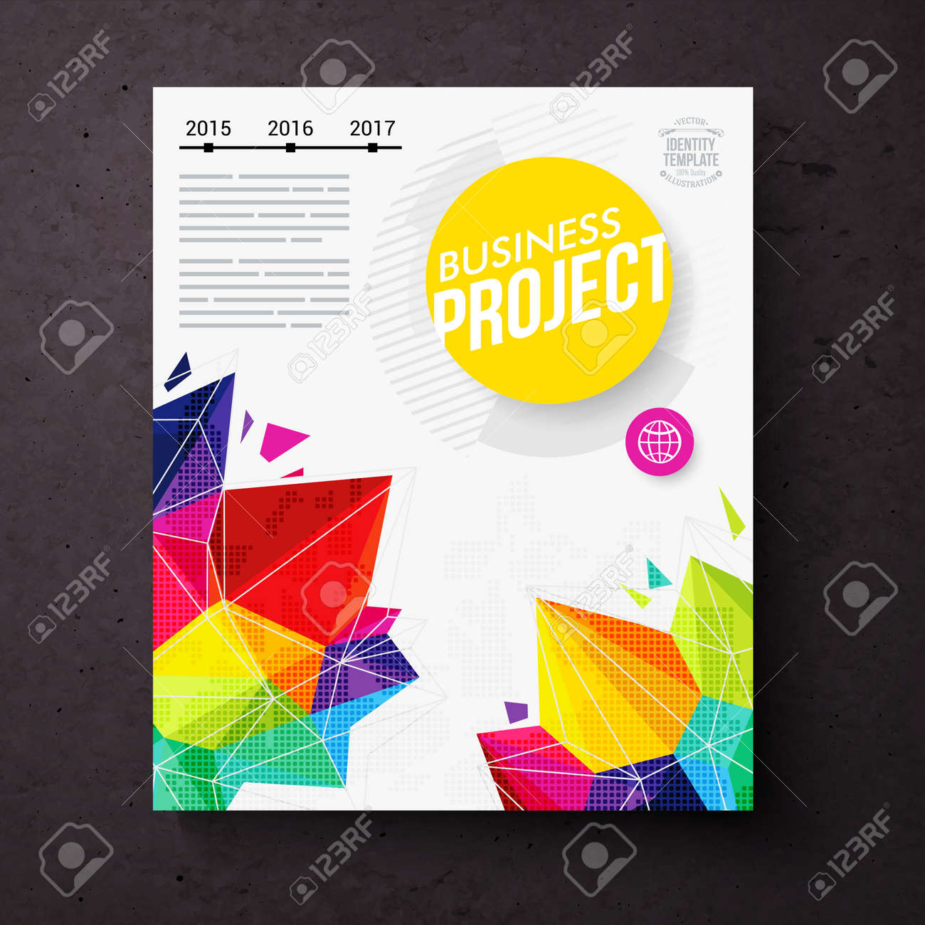 Colorful Geometric Business Report Design Template For The ...