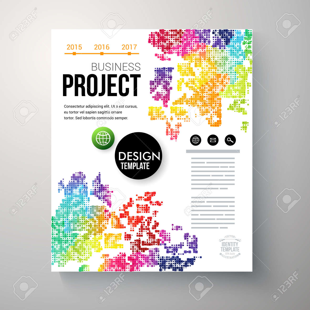 Design Template For A Business Project With Colorful Rainbow – Project Design Template