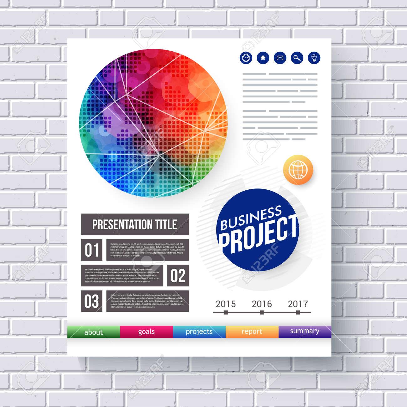 Ins Auge Fallende Entwurf Für Ein Business-Projekt-Präsentation Mit ...