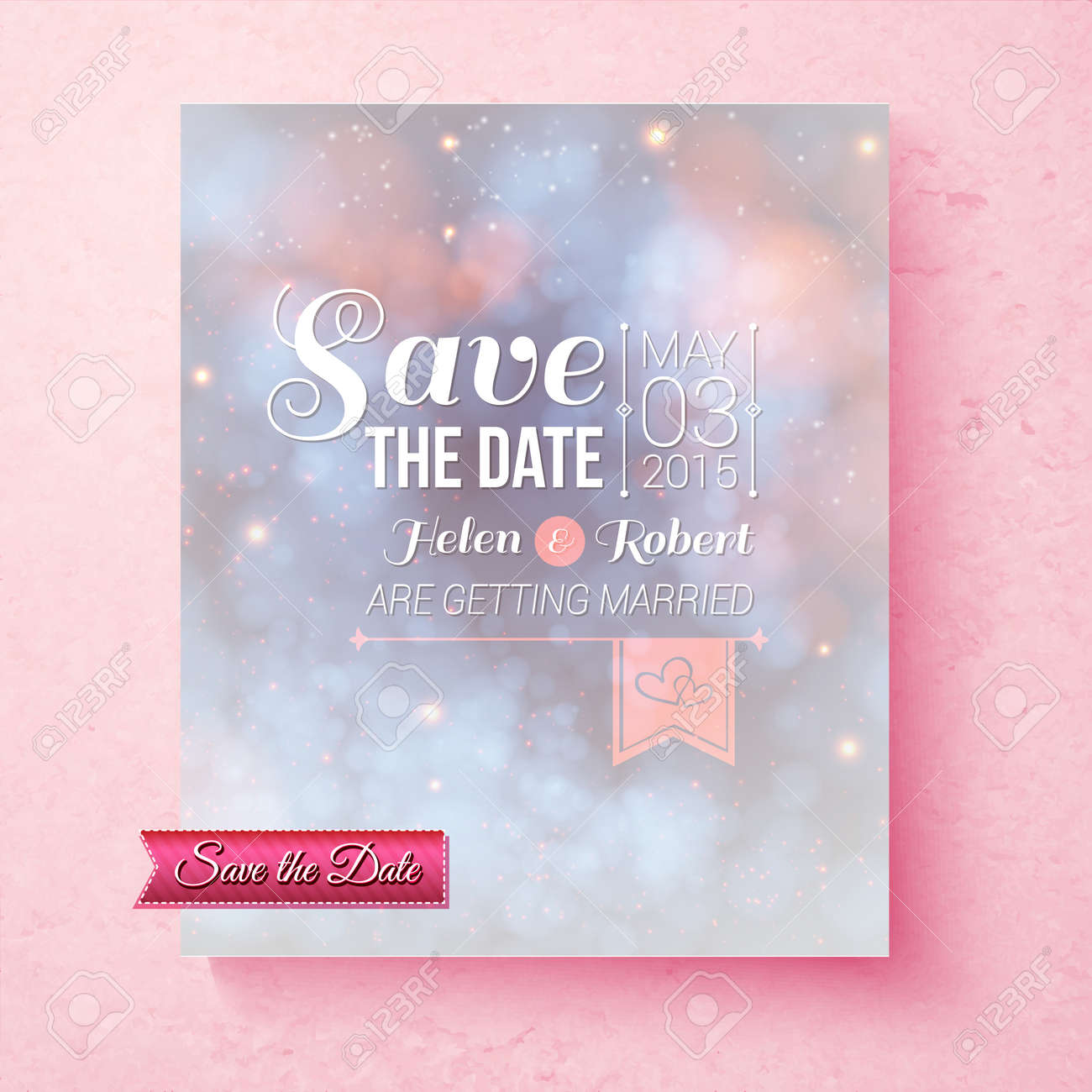 Soft ethereal save the date wedding invitation template with a banco de imagens soft ethereal save the date wedding invitation template with a subtle blend of pastel blue and pink and ornate white text over a pink stopboris Choice Image