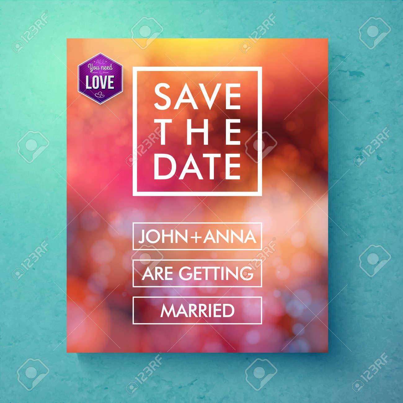 Bold Einfache Save The Date Template-Design Mit Weißem Text In ...