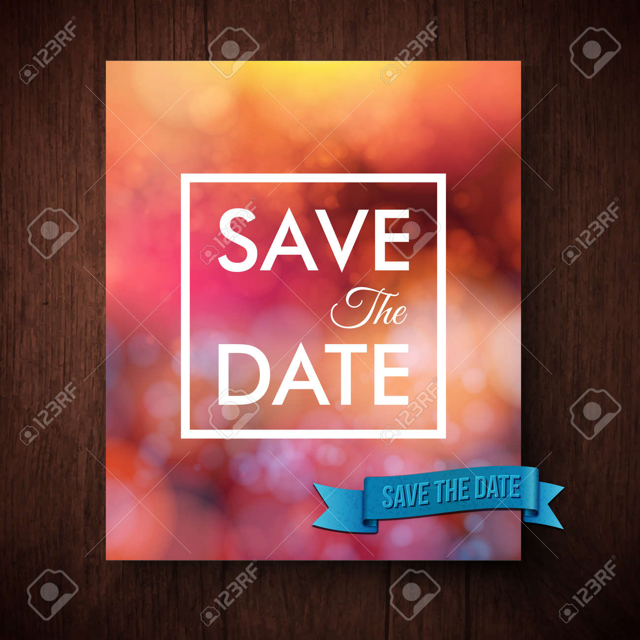 Eyecatching Bold Simple Save The Date Template For A Wedding ...