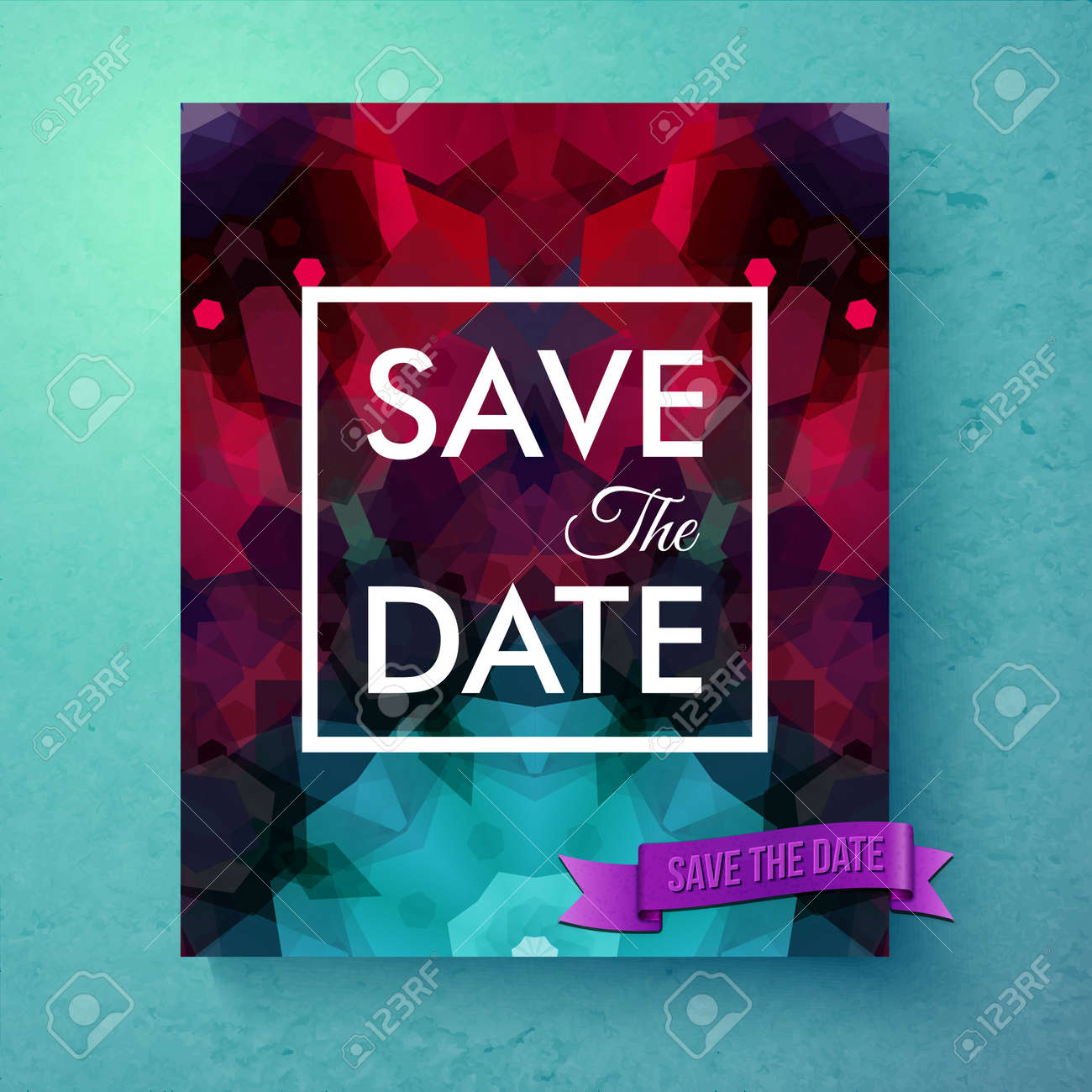 Generic Save The Date Invitation Card Or Announcement Poster