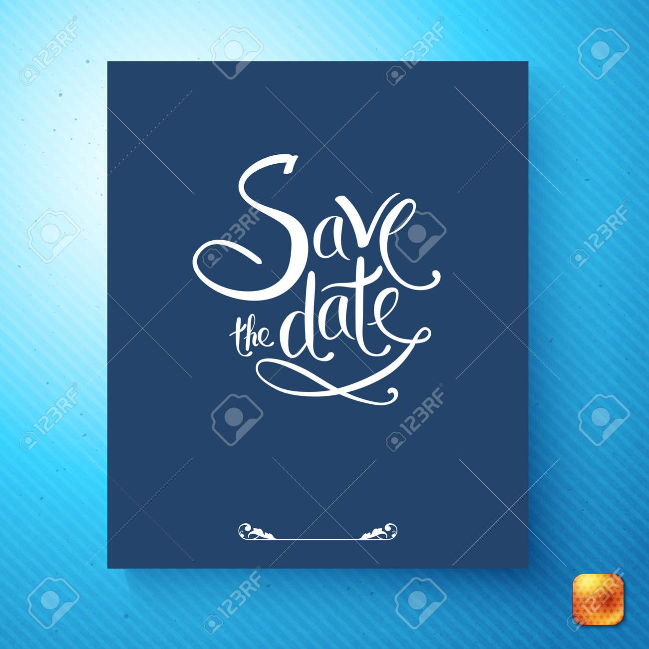 Simple Stylish Save The Date Wedding Invitation Card Design With