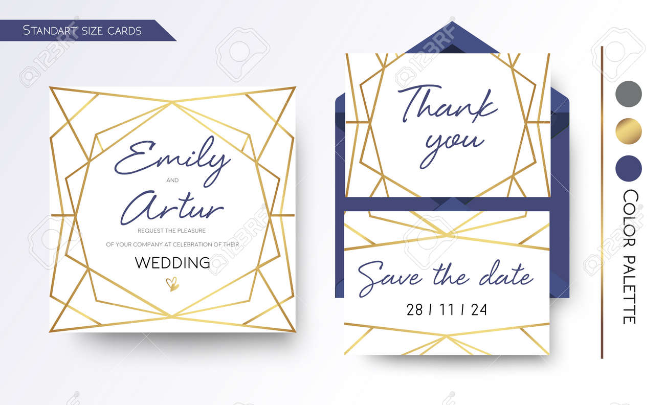 Wedding Invitation Save The Date Thank You Invite Card Design