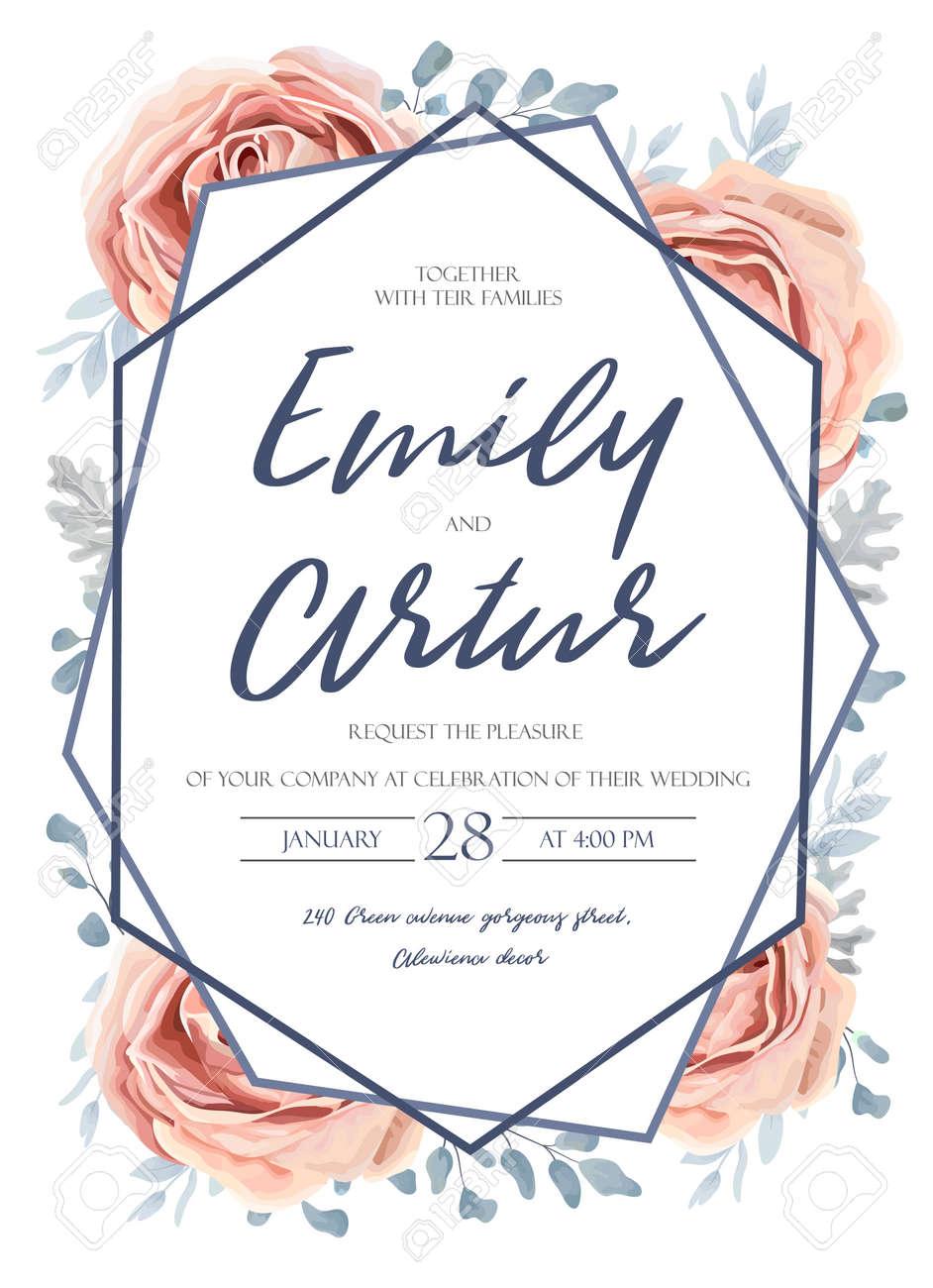 Wedding Invitation Invitation Save The Date Card Design Pink