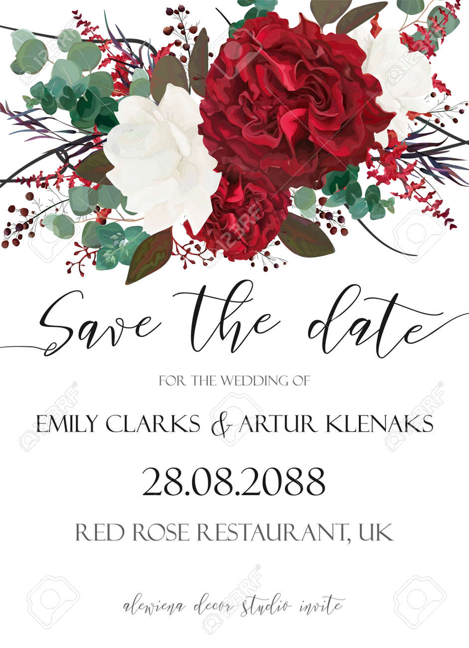 Dorable Save The Date Invitations Wedding Pattern - Invitations and ...