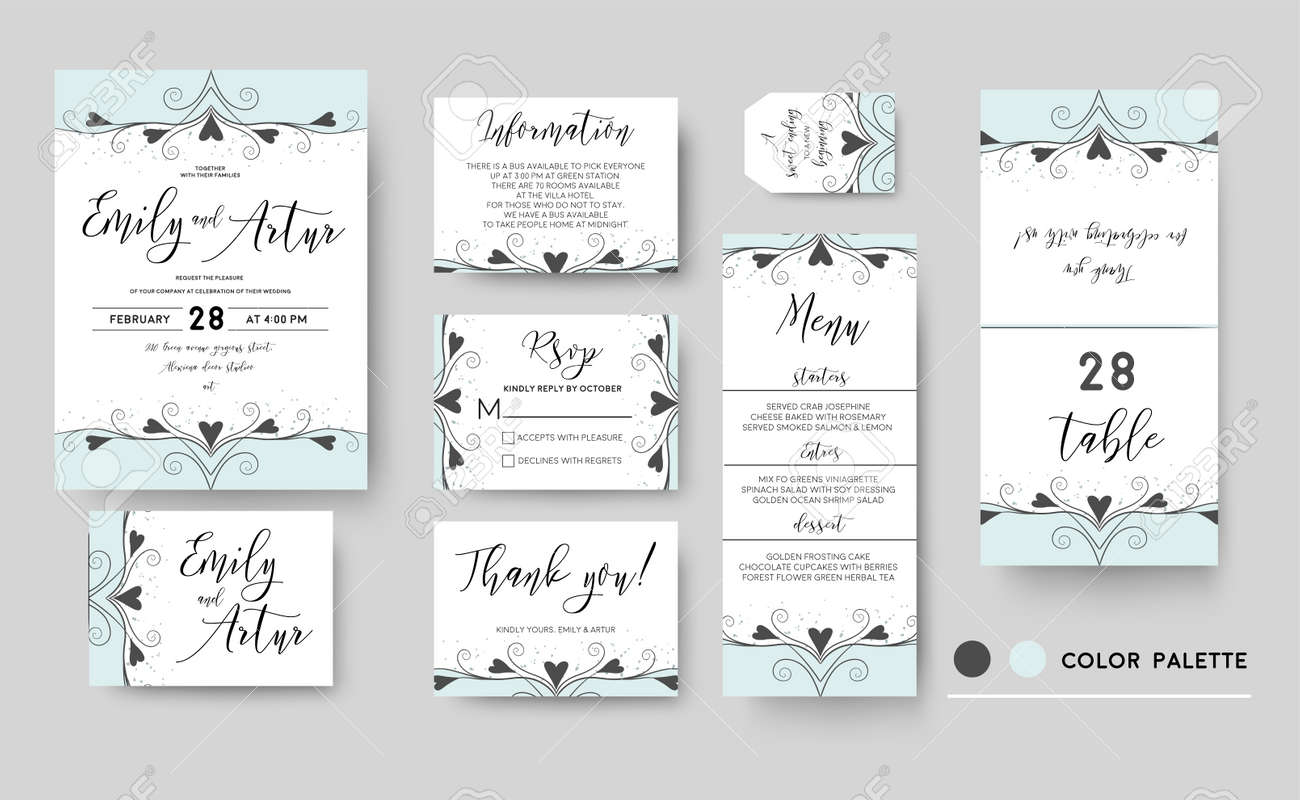 Wedding Invite, Invitation, Save The Date Thank You Rsvp Menu ...