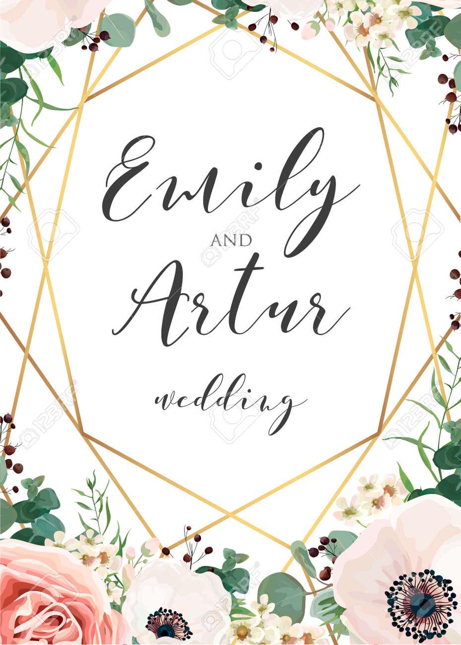 wedding elegant invite invitation save the date card design