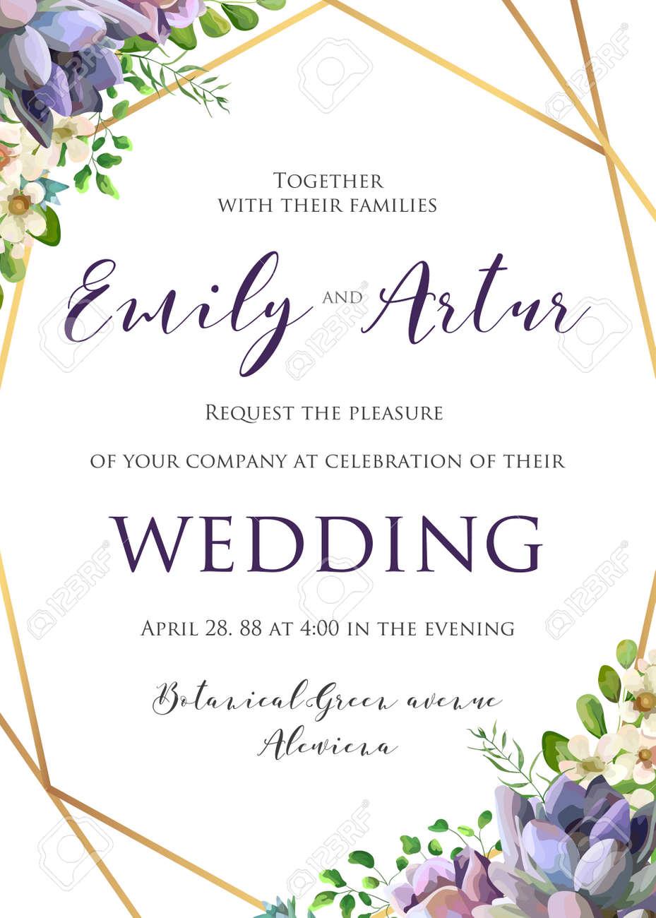 Wedding floral invitation, invite, save the date template. - 95558975