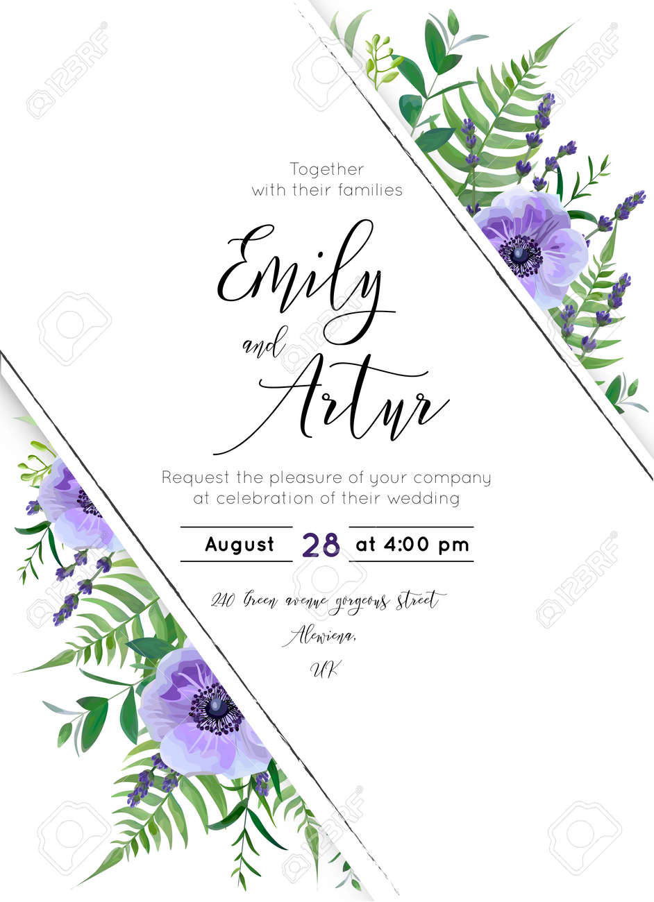 Wedding Floral Invitation Template
