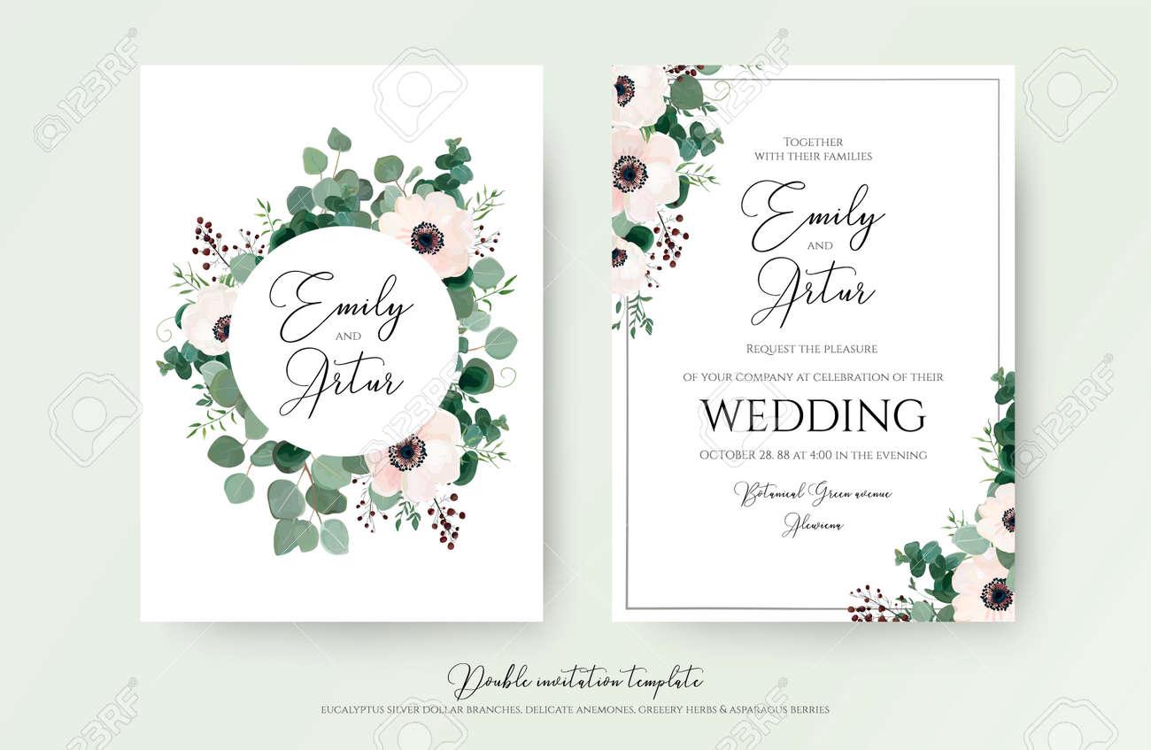 Wedding Invitation Floral Invite Modern Card Design Light Pink