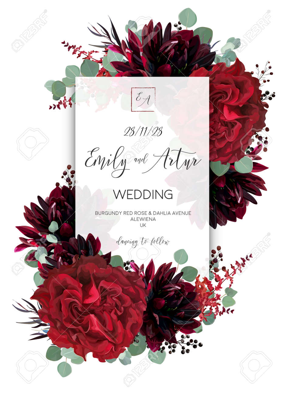 Wedding Vector Floral Invite Invitation Save The Date Card Design