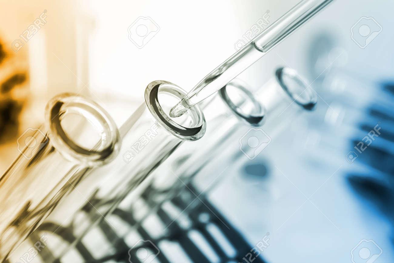 Test tubes closeup.medical glassware - 24080332