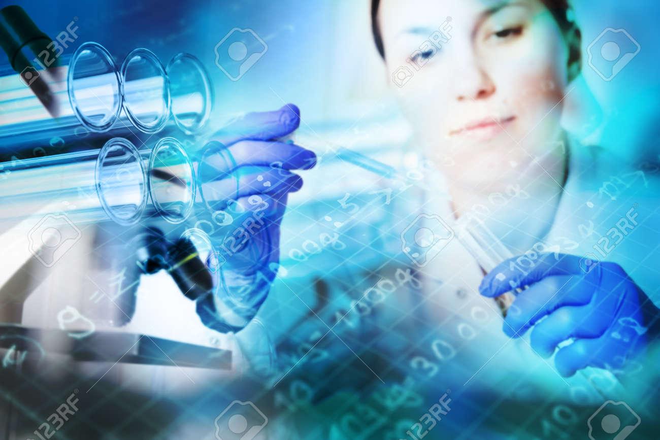 Test tubes closeup,medical glassware - 26033788