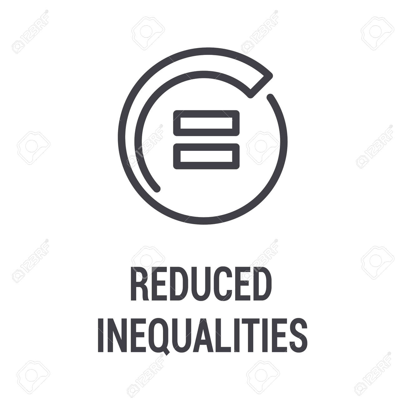 reduced inequalities black icon corporate social responsibility royalty free cliparts vectors and stock illustration image 139456932 reduced inequalities black icon corporate social responsibility