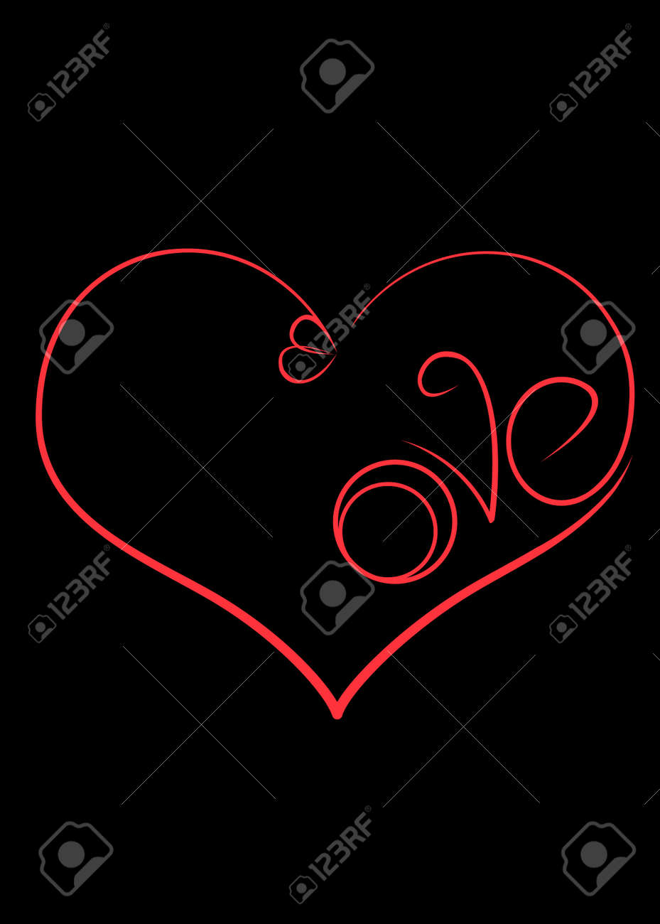 The Symbol Of Love Is A Heart With Engagement Rings And The