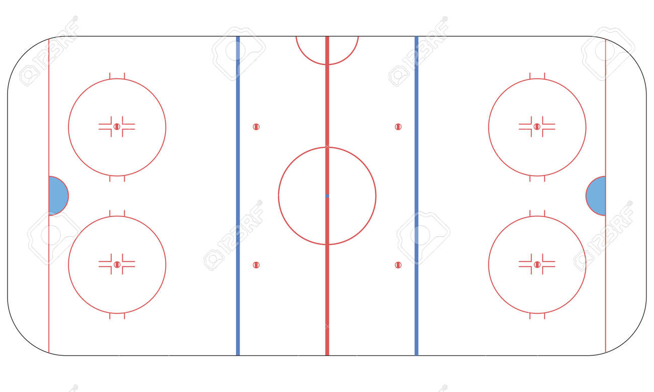 Ice Hockey Rink Flat Royalty Free Cliparts, Vectors, And Stock ...