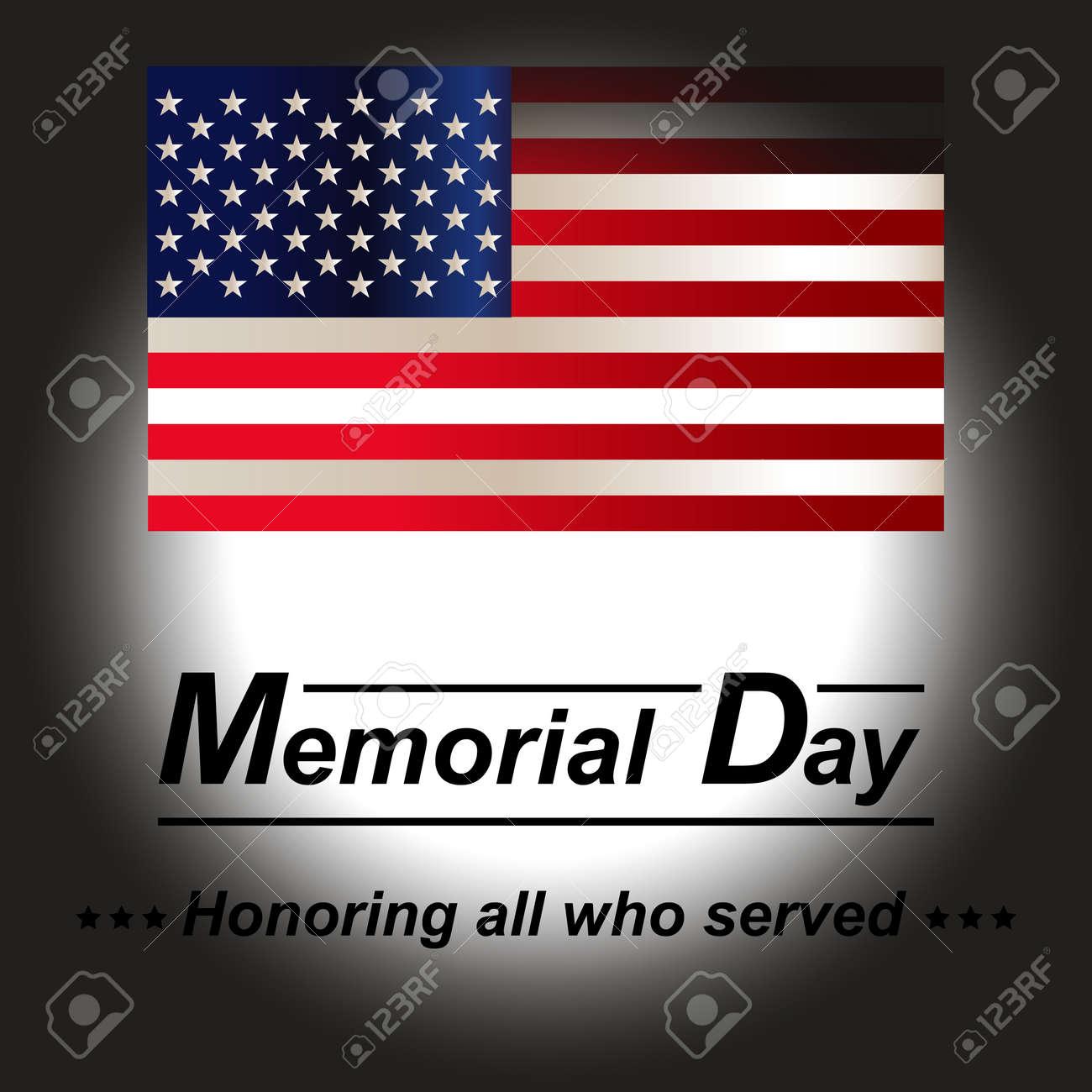 Bandera Estadounidense. Honrando A Todos Los Que Sirvieron A La ...