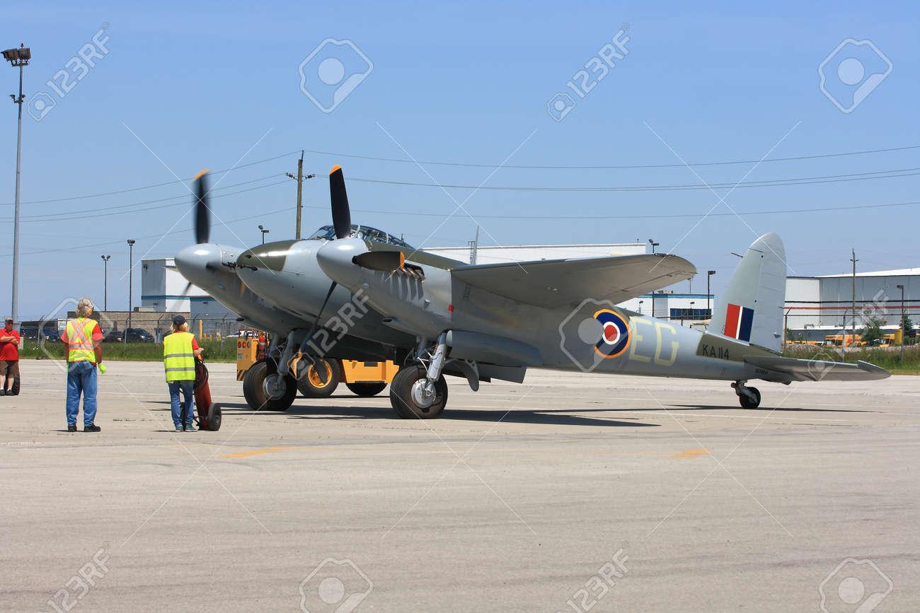 HAMILTON, ONTARIO CANADA - JUNE 15, 2014 Legendary De Havilland