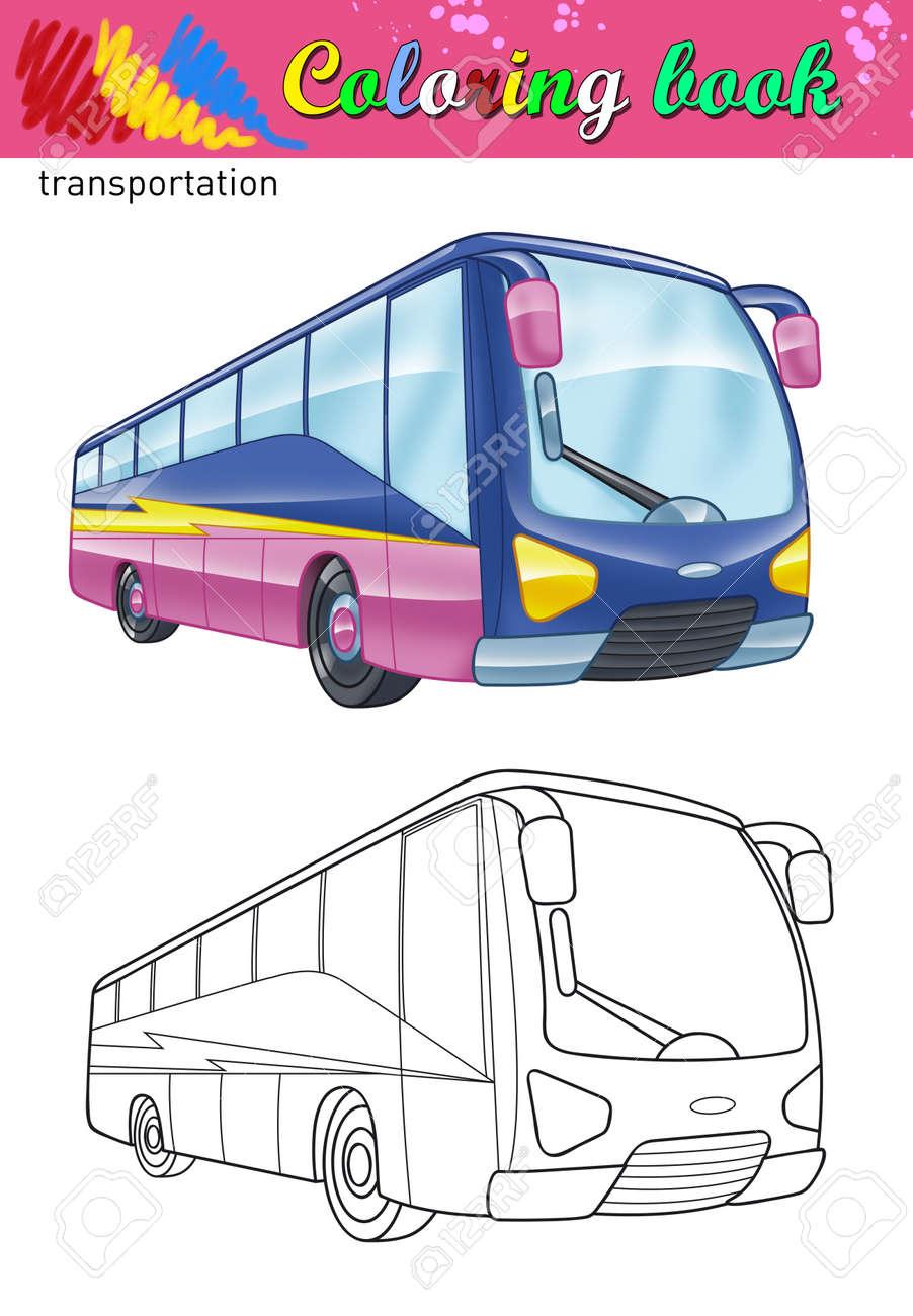 Perfecto Autobús Para Colorear Adorno - Ideas Para Colorear ...