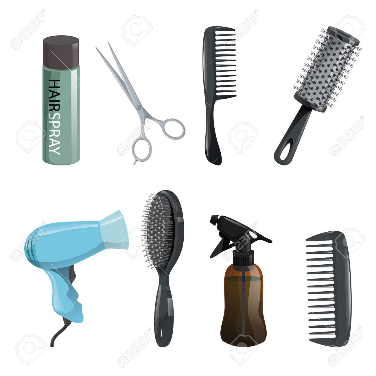 603f887e2d8 Hair beauty salon equipment set. Stock Vector - 91948915